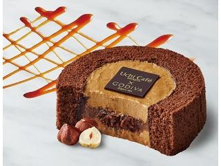 Lawson Uchi Cafe'SWEETS x GODIVA焦糖巧克力卷蛋糕