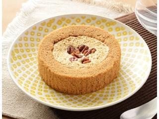 劳森优质盐焦糖和坚果卷蛋糕
