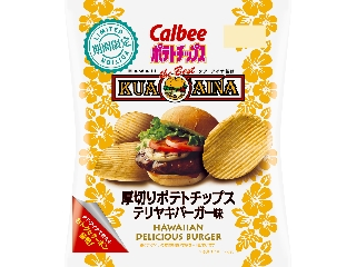 Calbee厚土豆片Terayaki汉堡香精袋68g