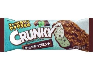 乐天嘎吱嘎吱的冰棒巧克力薄荷袋105毫升