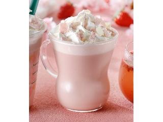 星巴克樱花草莓粉红色牛奶拿铁