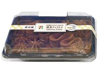 使用马斯卡彭在北海道制作的7-11厚的提拉米苏