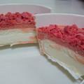 濃厚苺のチーズケーキ♡・*:..。♡*゚¨゚゚・