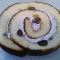 お豆がゴロゴロ~斬新すぎる組み合わせでとっても美味しい和風ロールケーキ人(*´꒳`♥).。*