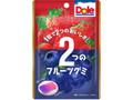 不二家 ドール2つのフルーツグミ ストロベリー&ブルーベリー 袋45g