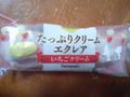 ヤマザキ Delicious Sweets たっぷりクリームエクレア いちごクリーム 袋1個