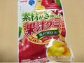 明治 素材がぎゅっと果汁グミ +りんごのセンイ 袋44g