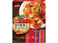 明治 まるごと野菜 完熟トマトソース 彩り野菜とモッツァレラ 箱155g