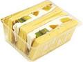 ファミリーマート Sweets+ フルーツサンド はちみつレアチーズクリーム パック2個