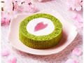 ローソン 桜と抹茶のロールケーキ はる・はろう・ろうる