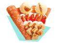 サーティワン アイスクリームクレーププレミアム ストロベリーミルクティー&アイスクリーム