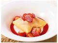 デニーズ 苺のクレープアイス