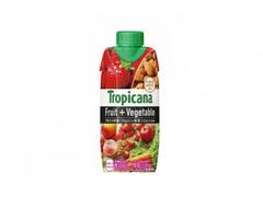 1食分の果実+1食分の野菜!「トロピカーナ フルーツ+ベジタブル」に新作登場