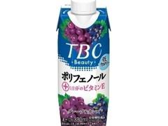 森永 TBC ポリフェノール+1日分のビタミンE グレープ&カシス パック330ml