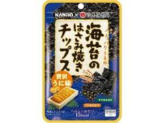 カンロ 海苔のはさみ焼きチップス 贅沢うに味 袋4.4g