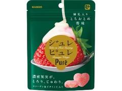 カンロ ジュレピュレ 練乳入りとちおとめ苺味 袋59g