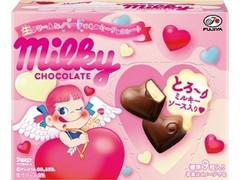 不二家 生クリームinハートのミルキーチョコレート 箱46g