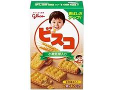 グリコ ビスコ 小麦胚芽入り 箱2枚×12