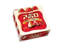 明治 アポロ 濃密いちご&コクのホワイト 箱42g