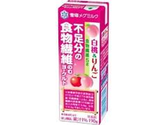 雪印メグミルク 不足分の食物繊維 のむヨーグルト 白桃&りんご パック190g