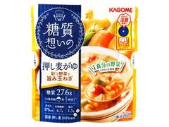 カゴメ 糖質想いの押し麦がゆ 彩り野菜と旨み玉ねぎ 袋250g