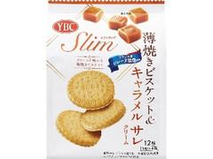 YBC スリムサンド 薄焼きビスケット&キャラメル サレクリーム 袋3枚×4