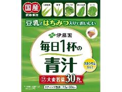 伊藤園 豆乳とはちみつ入りでおいしい 毎日1杯の青汁 粉末 箱7.5g×20
