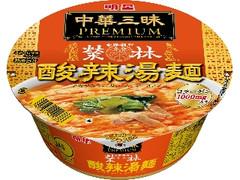 明星 中華三昧PREMIUM 赤坂榮林 酸辣湯麺 カップ84g