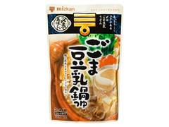 ミツカン 〆まで美味しい ごま豆乳鍋つゆ 袋750g