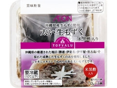 トップバリュ 太い生もずく 米黒酢入り パック70g×3