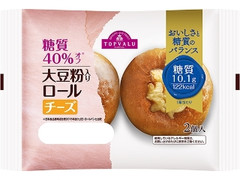 トップバリュ 糖質40%オフ 大豆粉入りロール チーズ 袋2個