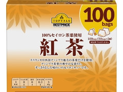 トップバリュ ベストプライス 100%セイロン茶葉使用 紅茶 箱1.8g×100