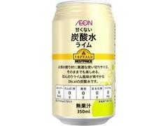 トップバリュ ベストプライス 甘くない 炭酸水 ライム 缶350ml