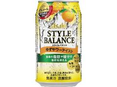 アサヒ スタイルバランス ゆずサワーテイスト 缶350ml