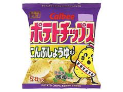 カルビー ポテトチップス こんぶしょうゆ 袋58g