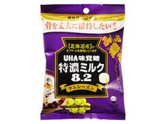 味覚糖 特濃ミルク8.2 ラムレーズン 袋93g