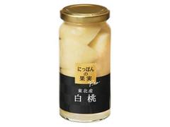 K&K にっぽんの果実Pro 東北産白桃 瓶155g