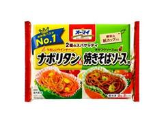 オーマイ 2種のスパゲッティ ナポリタン&焼きそばソース味 袋140g