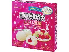 ロッテ 雪見だいふく とろける至福 苺ソースのチーズケーキ 箱27ml×9