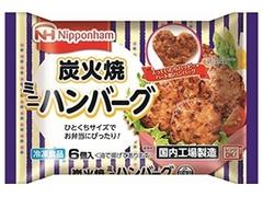 ニッポンハム 炭火焼ミニハンバーグ 袋6個