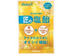 サラヤ 匠の塩飴 レモン味 袋100g