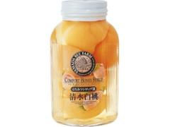 山田養蜂場 白桃はちみつシロップ漬 瓶350ml