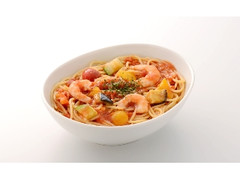 カフェ・ド・クリエ パスタ 冷製 海老と夏野菜のトマトソース