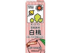 キッコーマン 豆乳飲料 白桃 パック200ml