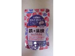 オリヒロプランデュ かんでおいしいチュアブルサプリ ミックスベリー味 鉄+葉酸 袋120粒