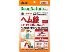 アサヒ ディアナチュラスタイル ヘム鉄×葉酸+ビタミンB6・B12・C 袋120粒