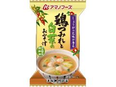 アマノフーズ 鶏つみれと白菜のおみそ汁 袋11.5g