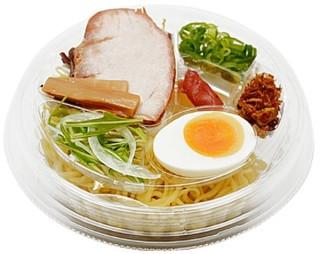 新発売のコンビニ麺:セブン「鶏とはまぐりの出汁冷たいうま塩ラーメン」ほか