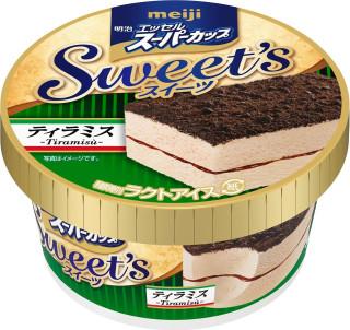 新発売のおやつ:明治「エッセルスーパーカップ Sweet's ティラミス」ほか