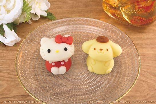 """【数量限定】ハローキティとポムポムプリンの""""和菓子""""がローソンで発売 !"""